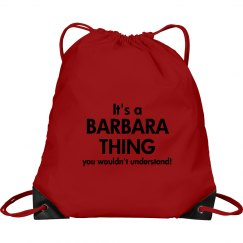 It's a Barbara thing