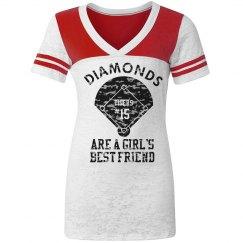 Diamonds Softball Tee