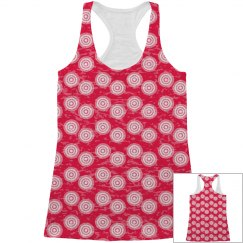 Red All Over Print Tank top
