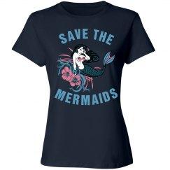 Save the mermaids shirt