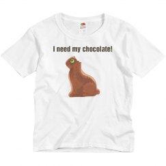 Chocolate Bunny Youth Tee