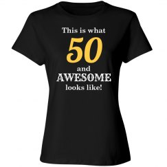 50 and awesome looks like