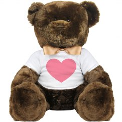 Heavy Black Heart Large Plush Teddy Bear