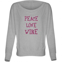 Peace Love Wine Long T