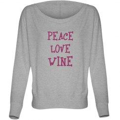 Peace Love Wine Long T