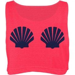 Mermaid Shell Crop Top