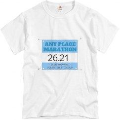Your Marathon Date & Time: 26.21