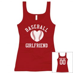Super Cute Baseball Girlfriend Tanks With Custom Name