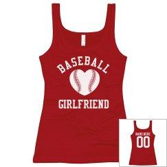 Super Cute Baseball Girlfriend Tanks With Custom Name
