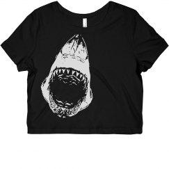 Shark Attack Crop Top