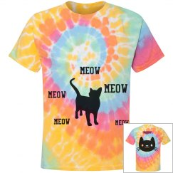 kitty tyedye tee