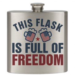 4th Of July Freedom Flask