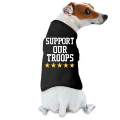 Support our troops puppy