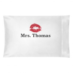 Mrs. Lips Pillow Case