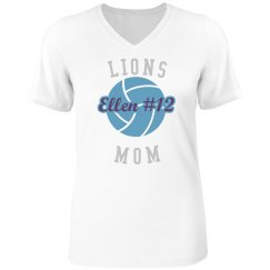 Volleyball Mom Rhinestone