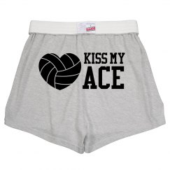 Kiss My Ace Funny Volleyball Wordplay Pants