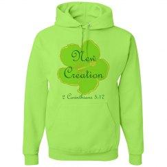 NEW CREATION - Ladies Hoodie - 2 Corinthians 5:17
