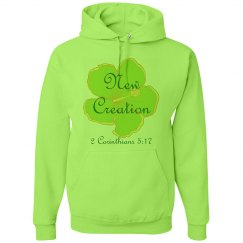 NEW CREATION - Ladies Hoodie - 2 Corinthians 5:17