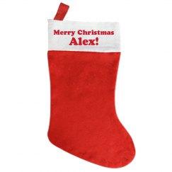Merry Christmas Alex