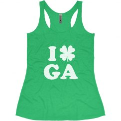 I Love St Patricks Day Georgia