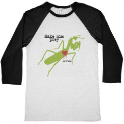 Make Him Prey Baseball Tee
