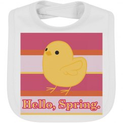 Hello Spring Chick Easter Bib