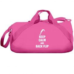 Keep calm and back flip bag