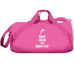 Keep calm and back flip bag