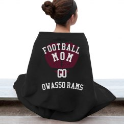 OWASSO RAMS FOOTBALL MOM BLANKET