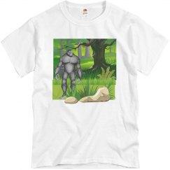 Bigfoot In The Forest Men's Tee