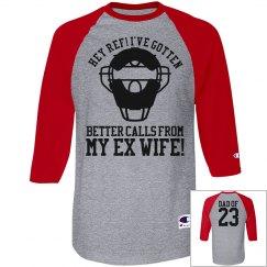 Sports Dad Baseball Umpire Heckler Custom Jersey