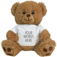 Custom Text Cuddly Gift