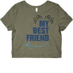 BEST FRIENDS CROPPED TEE