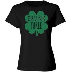 Drunk Three Drinking Humor T-shirt