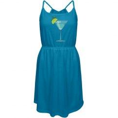 Blue Cocktail w/Lemon