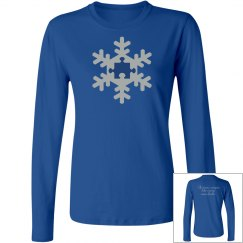 Unique Autism Snowflake Ladies Long Sleeve