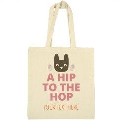 Custom Hip Hop Bunny Easter Tote