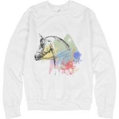 Watercolor Horse Head