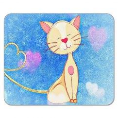 Cute Love Cat Mousemat