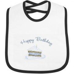 Happy birthday bib blue cake