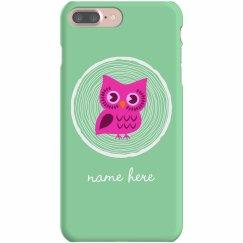 Cute Owl Custom iPhone Case