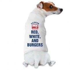 Red, White, & Burgers Dog