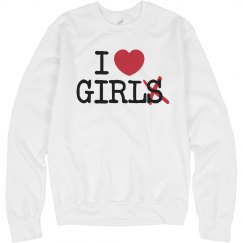 I Heart Girl Crewneck