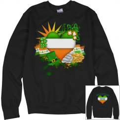 Just a little bit Irish, Casual Sweatshirt