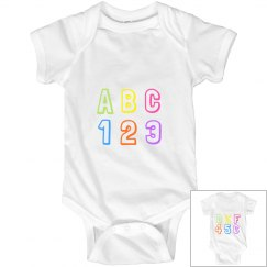ABC 123 Onsie
