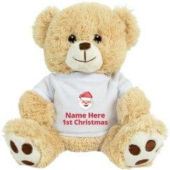 Custom 1st Christmas Bear