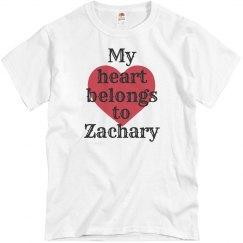 Heart belongs to Zachary