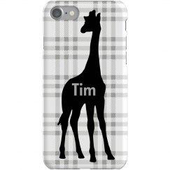 Tim's Giraffe iPhone Case
