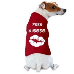 Free Kisses Dog Shirt
