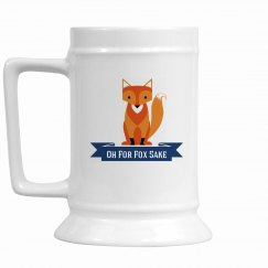 Fox 16 oz. Stein blue
